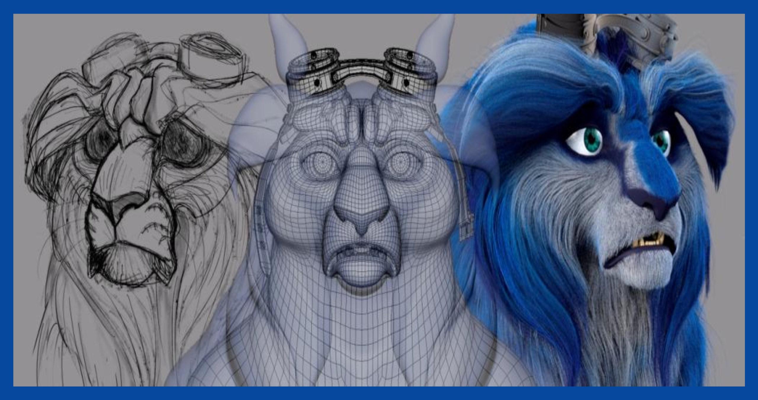 blue gato animación