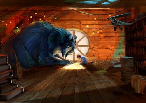 cine de animación blue y malone