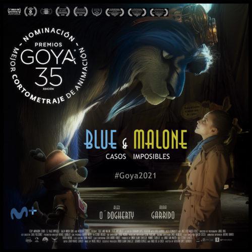 blue y malone nominado premios goya corto de animación
