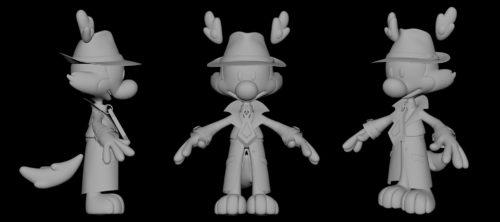 diseño de mortando malone, personaje de animación
